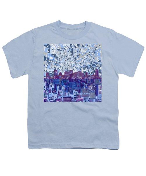 Nashville Skyline Abstract 8 Youth T-Shirt by Bekim Art