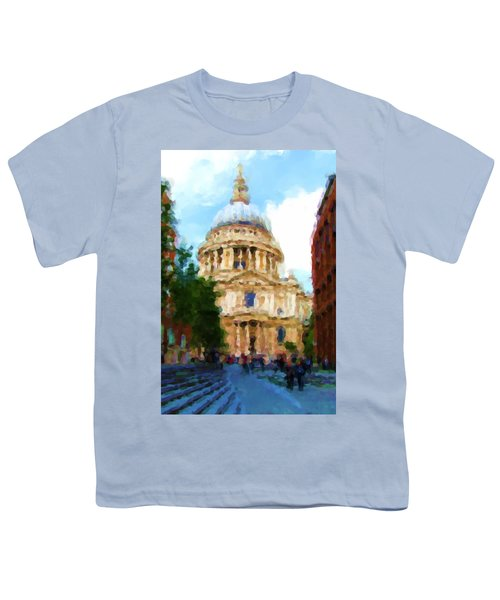 On The Steps Of Saint Pauls Youth T-Shirt by Jenny Armitage