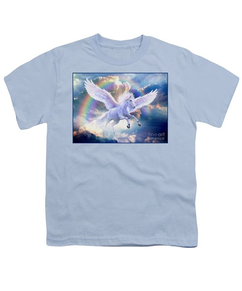 Rainbow Pegasus Youth T-Shirt by Jan Patrik Krasny