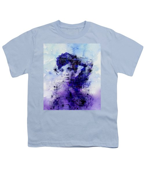 Rihanna 2 Youth T-Shirt by Bekim Art
