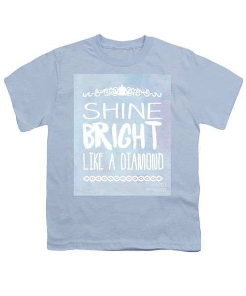 Shine Bright Blue Youth T-Shirt by Pati Photography