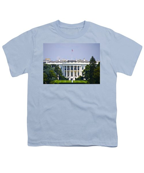 The Whitehouse - Washington Dc Youth T-Shirt by Bill Cannon