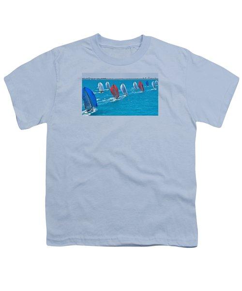Miami Skyline Regatta Youth T-Shirt by Steven Lapkin