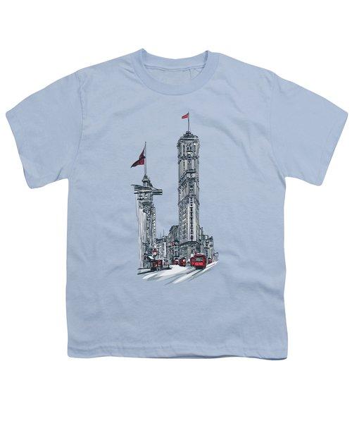 1908 Times Square,ny Youth T-Shirt by Andrzej Szczerski
