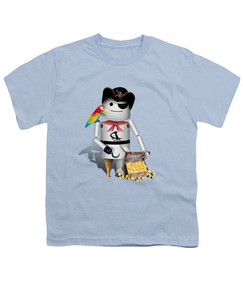 Robo-x9 The Pirate Youth T-Shirt by Gravityx9  Designs