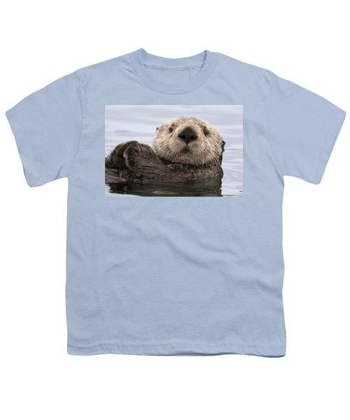 Sea Otter Elkhorn Slough Monterey Bay Youth T-Shirt by Sebastian Kennerknecht