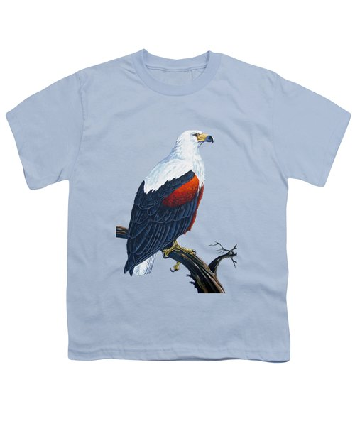 African Fish Eagle Youth T-Shirt by Anthony Mwangi