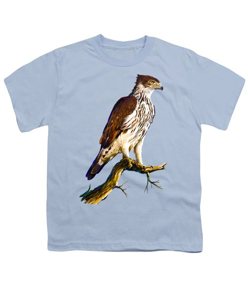 African Hawk Eagle Youth T-Shirt by Anthony Mwangi
