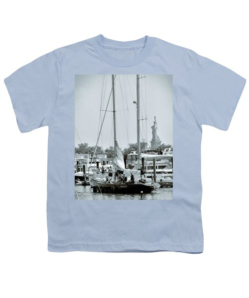 America II And The Statue Of Liberty Youth T-Shirt by Sandy Taylor
