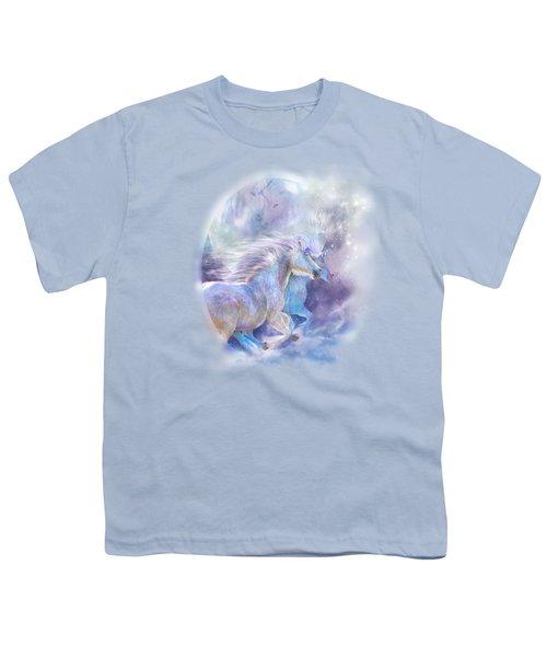 Unicorn Soulmates Youth T-Shirt by Carol Cavalaris