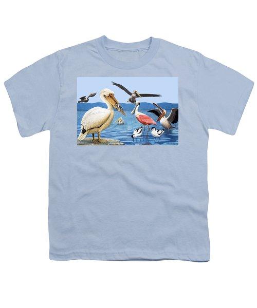 Birds With Strange Beaks Youth T-Shirt by R B Davis