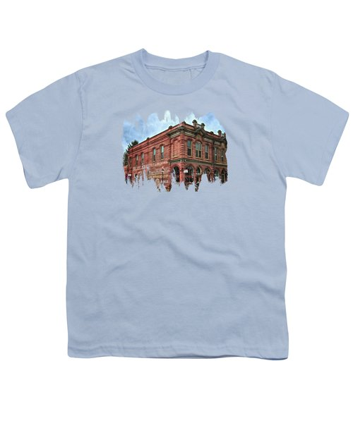 Boomtown Saloon Jacksonville Oregon Youth T-Shirt by Thom Zehrfeld