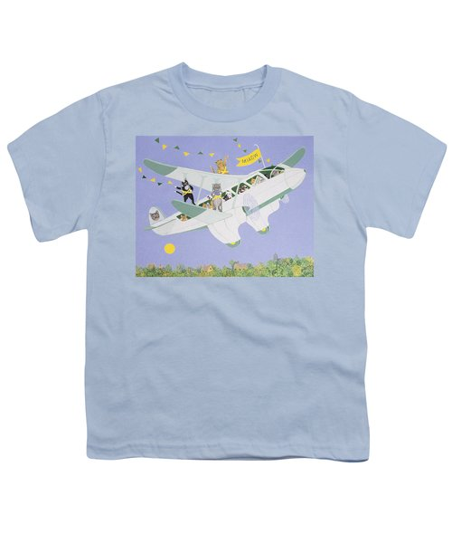 Cat Air Show Youth T-Shirt by Pat Scott