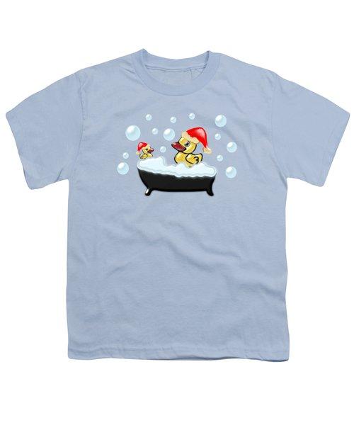 Christmas Ducks Youth T-Shirt by Anastasiya Malakhova