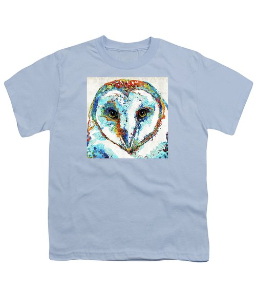 Colorful Barn Owl Art - Sharon Cummings Youth T-Shirt by Sharon Cummings