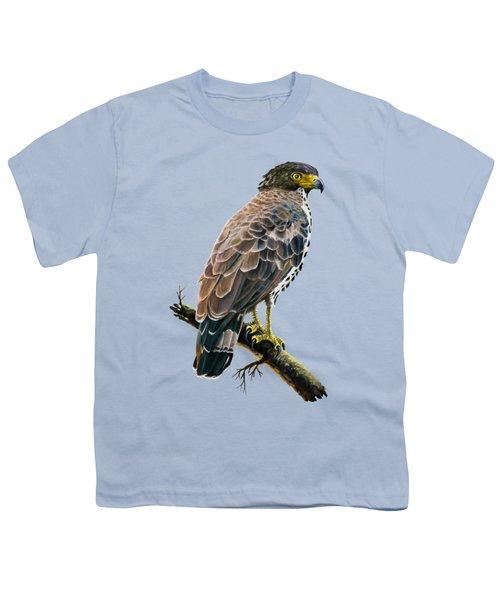 Congo Serpent Eagle Youth T-Shirt by Anthony Mwangi