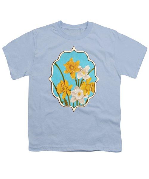 Daffodils Youth T-Shirt by Anastasiya Malakhova