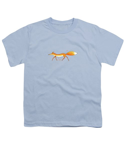 Fox  Youth T-Shirt by Andrew Hitchen