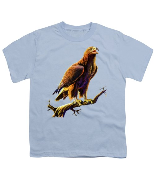 Golden Eagle Youth T-Shirt by Anthony Mwangi