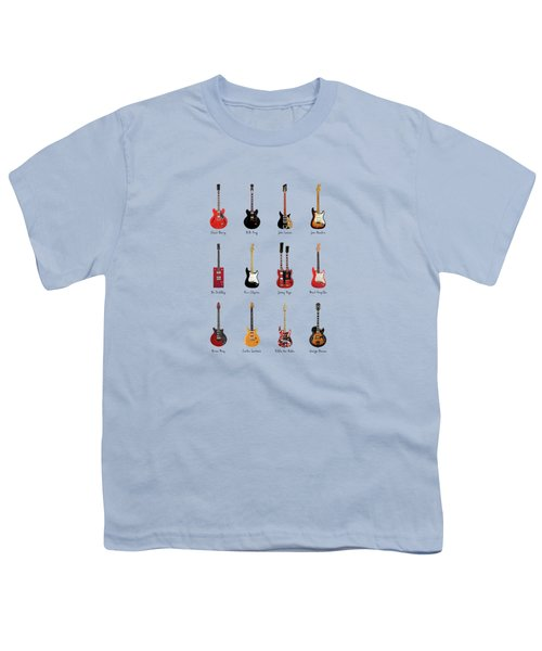 Guitar Icons No1 Youth T-Shirt by Mark Rogan