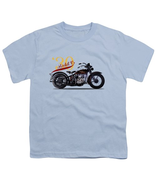 Harley-davidson Model V 1930 Youth T-Shirt by Mark Rogan