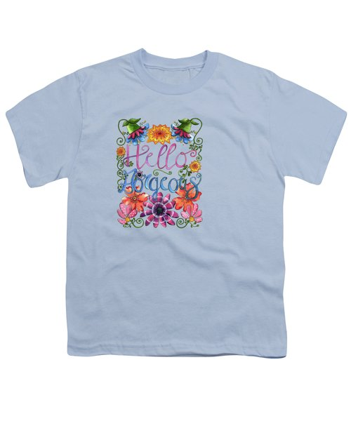 Hello Gorgeous Plus Youth T-Shirt by Shelley Wallace Ylst