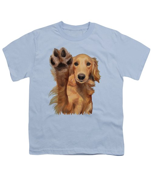 High Five Youth T-Shirt by Jindra Noewi