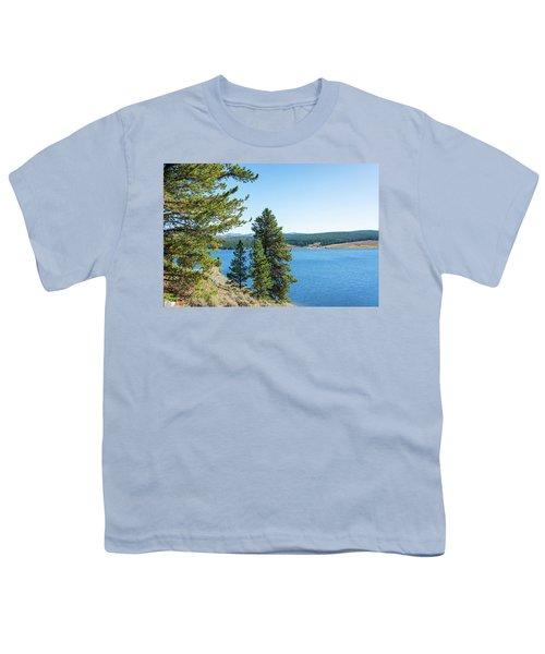Meadowlark Lake And Trees Youth T-Shirt by Jess Kraft
