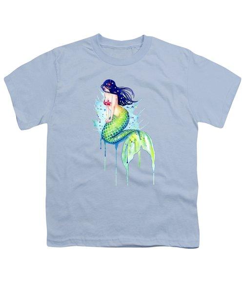 Mermaid Splash Youth T-Shirt by Sam Nagel