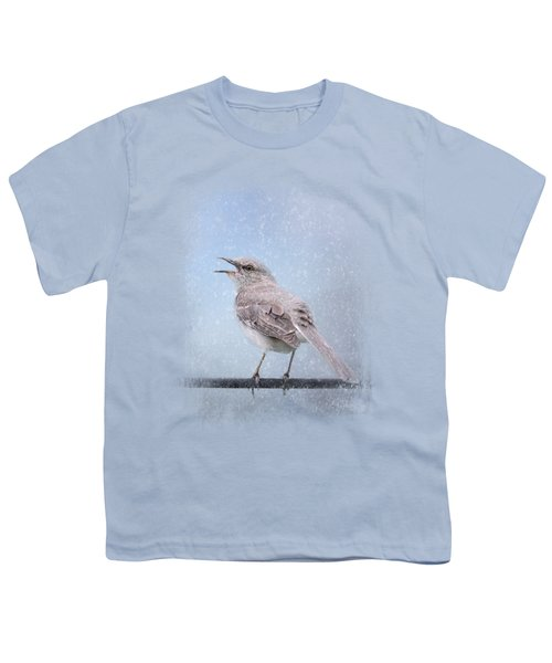 Mockingbird In The Snow Youth T-Shirt by Jai Johnson