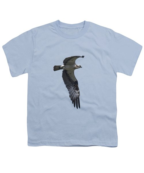 Osprey In Flight 2 Youth T-Shirt by Priscilla Burgers
