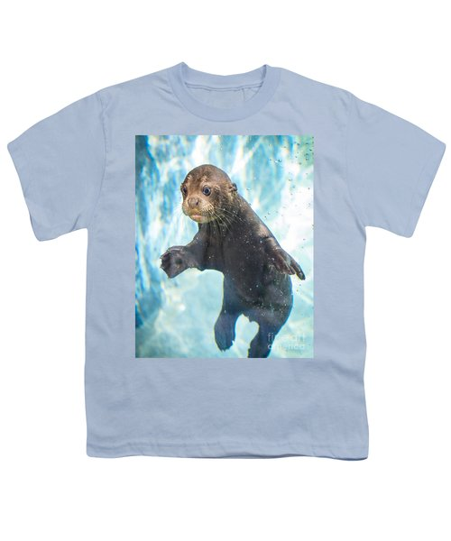 Otter Cuteness Youth T-Shirt by Jamie Pham