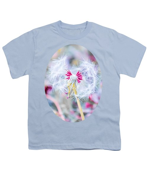 Pink Dandelion Youth T-Shirt by Parker Cunningham
