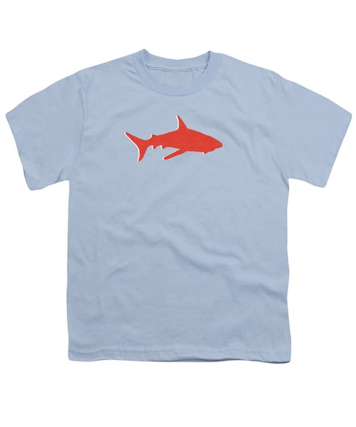 Red Shark Youth T-Shirt by Linda Woods