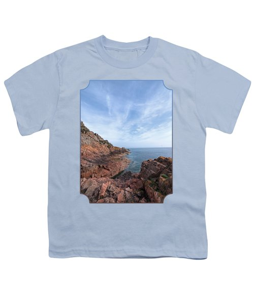 Rocky Ocean Inlet - Jersey Youth T-Shirt by Gill Billington