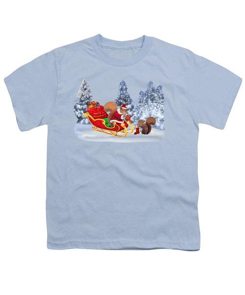 Santa's Little Helper Youth T-Shirt by Glenn Holbrook