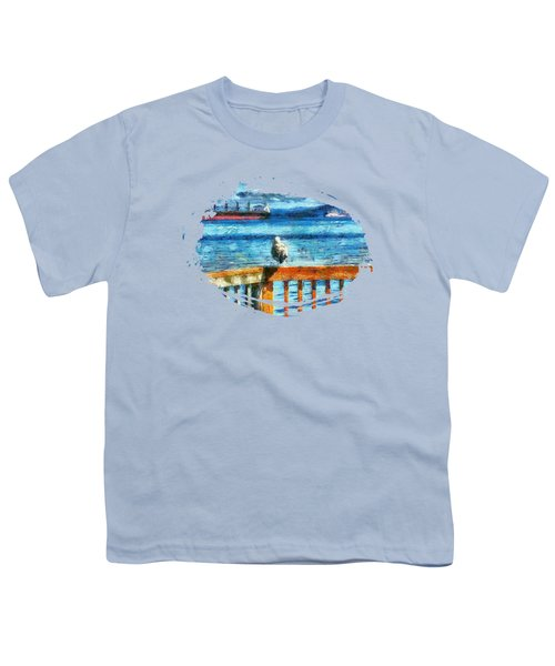 Seagull In Astoria  Youth T-Shirt by Thom Zehrfeld