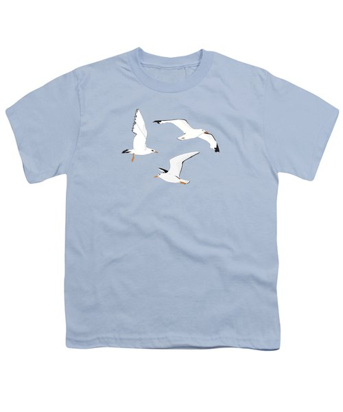 Seagulls Gathering At The Cricket Youth T-Shirt by Elizabeth Tuck