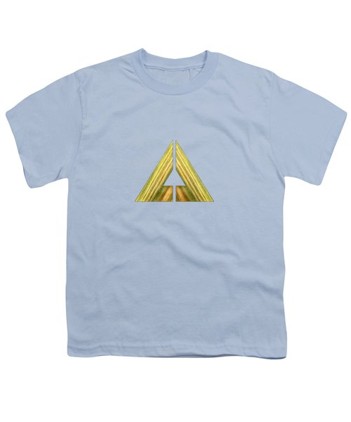 Split Triangle Green Youth T-Shirt by YoPedro
