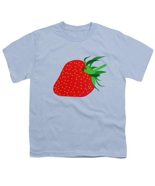 Strawberry Pop Remix Youth T-Shirt by Oliver Johnston
