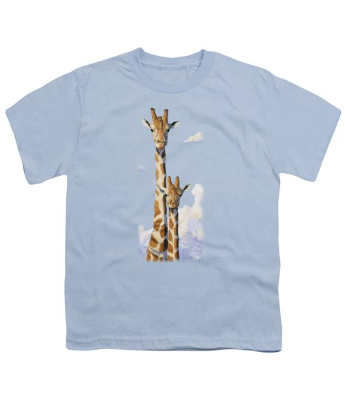 Two Heads In The Clouds Youth T-Shirt by Lucie Bilodeau