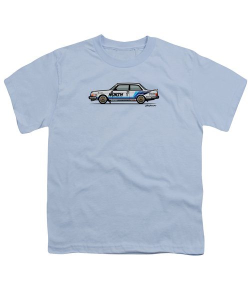 Volvo 240 242 Turbo Group A Homologation Race Car Youth T-Shirt by Monkey Crisis On Mars