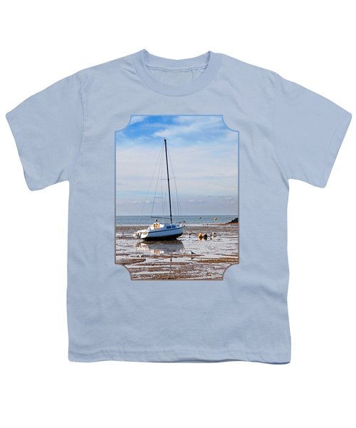 Waiting For High Tide Youth T-Shirt by Gill Billington