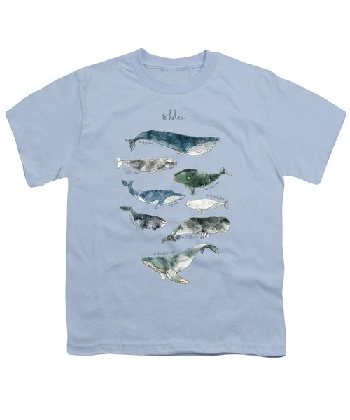 Whales Youth T-Shirt by Amy Hamilton