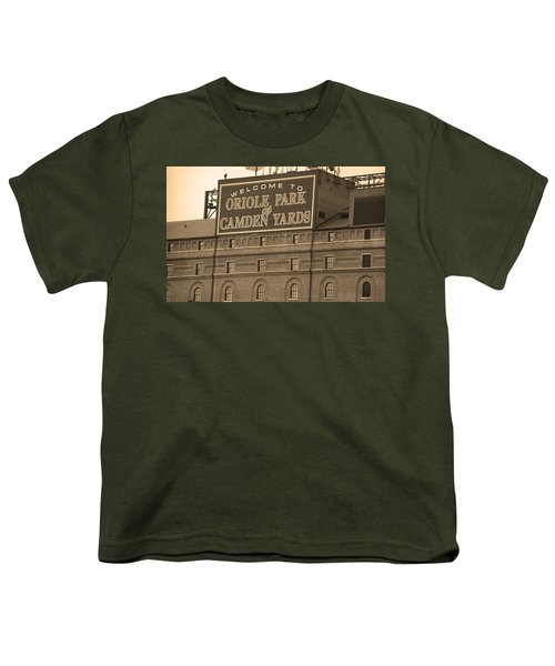 Baltimore Orioles Park At Camden Yards Youth T-Shirt by Frank Romeo