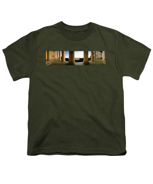 Jefferson Memorial Washington Dc Usa Youth T-Shirt by Panoramic Images