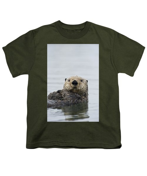 Sea Otter Alaska Youth T-Shirt by Michael Quinton