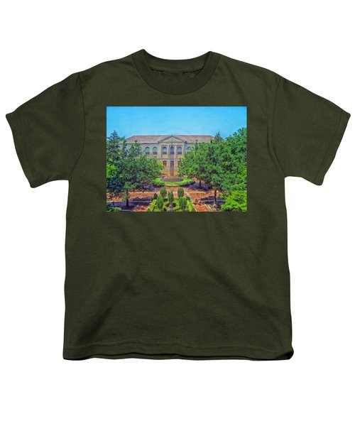 The Old Main - University Of Arkansas Youth T-Shirt by Mountain Dreams