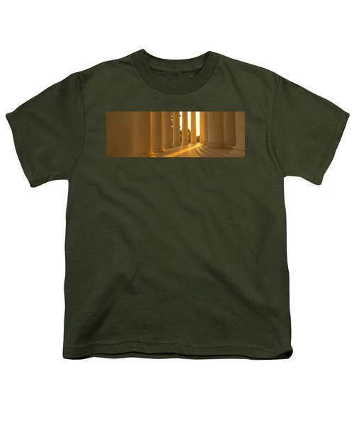 Jefferson Memorial, Washington Dc Youth T-Shirt by Panoramic Images
