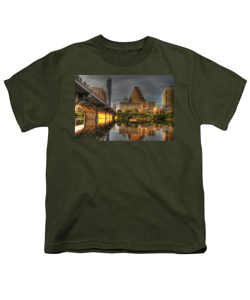 Austin Skyline Youth T-Shirt by Jane Linders